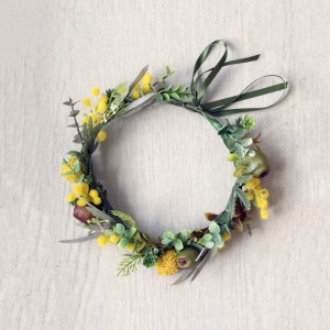 yellow wattle flower crown Aus