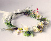floral crown silk