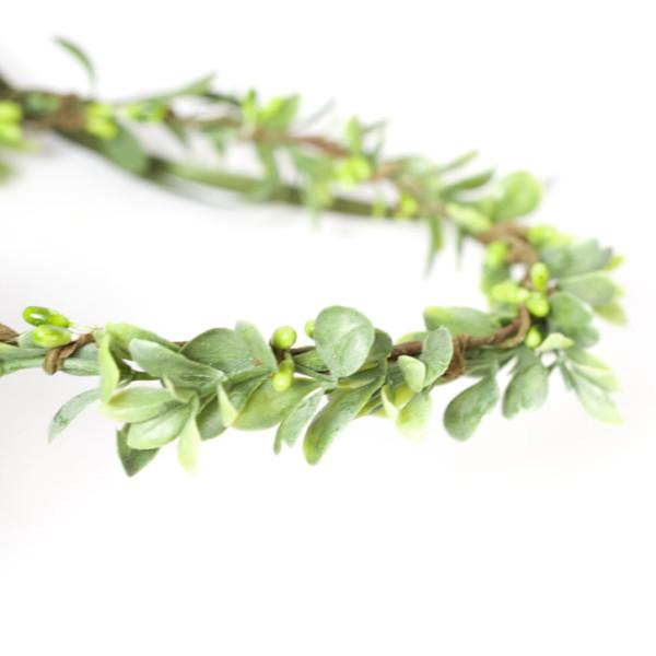 leaf green crown tiara