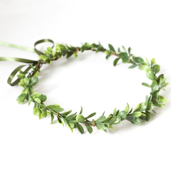 leaf hair garland