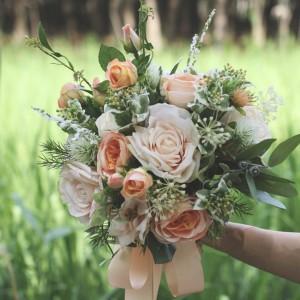 bride wedding bouquet artificial