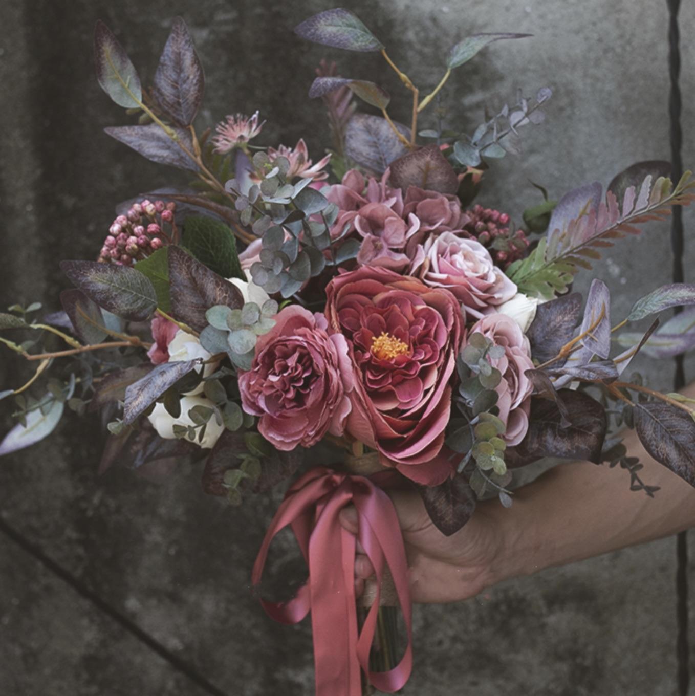 bridal bouquet boho bride