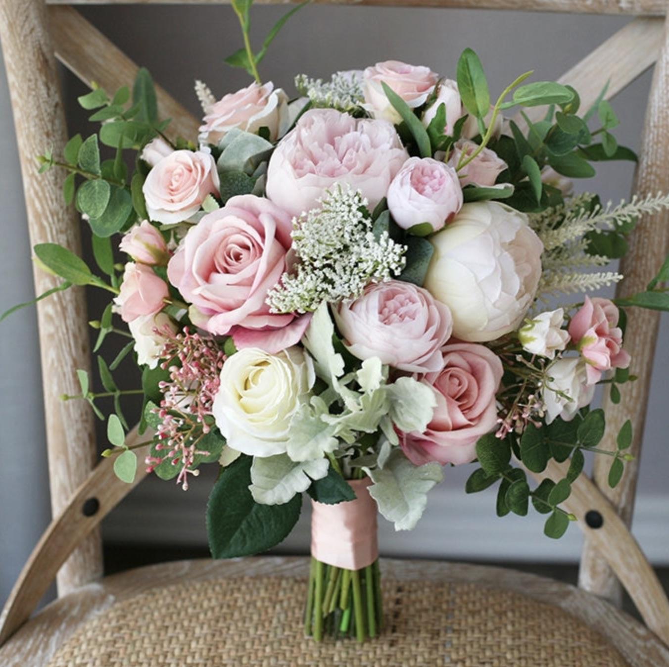 pink rose artificial bouquets floral