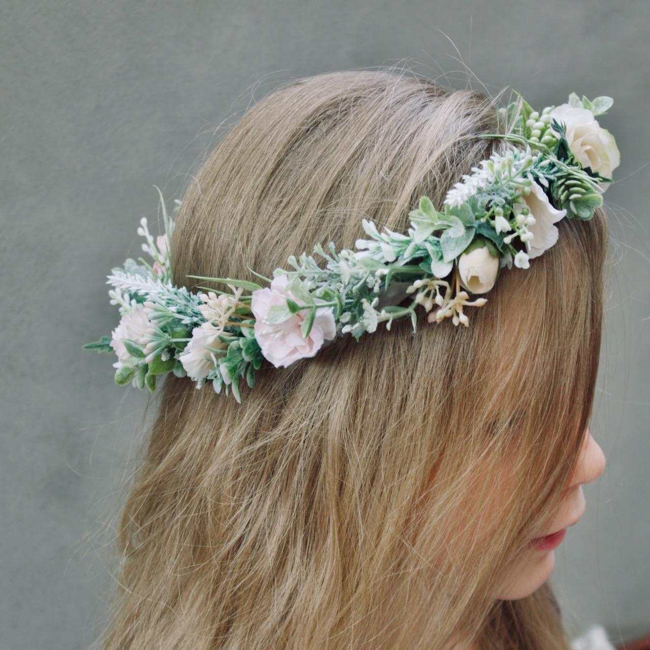 bride flower girl hair crowns