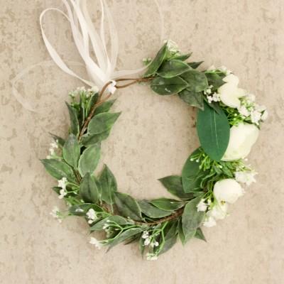 fake flowers for hair bride