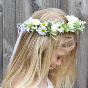 kids daisy floral hair crown