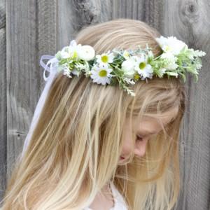 kids daisy floral hair crown