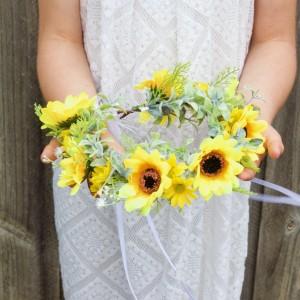 sunflower hair headbands