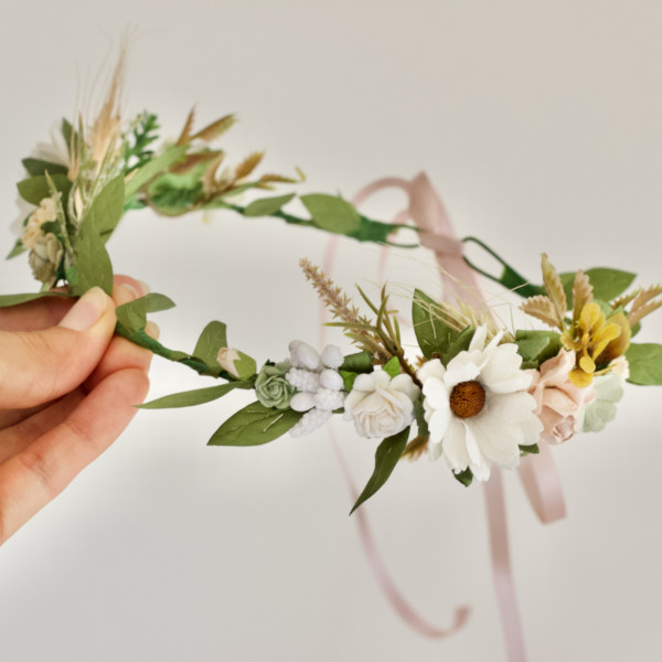 daisy flower girls hair headband