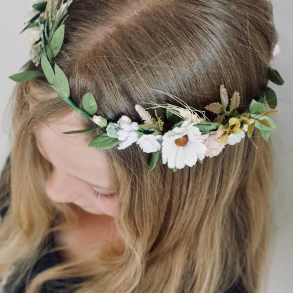 daisy rustic vintage flower crown