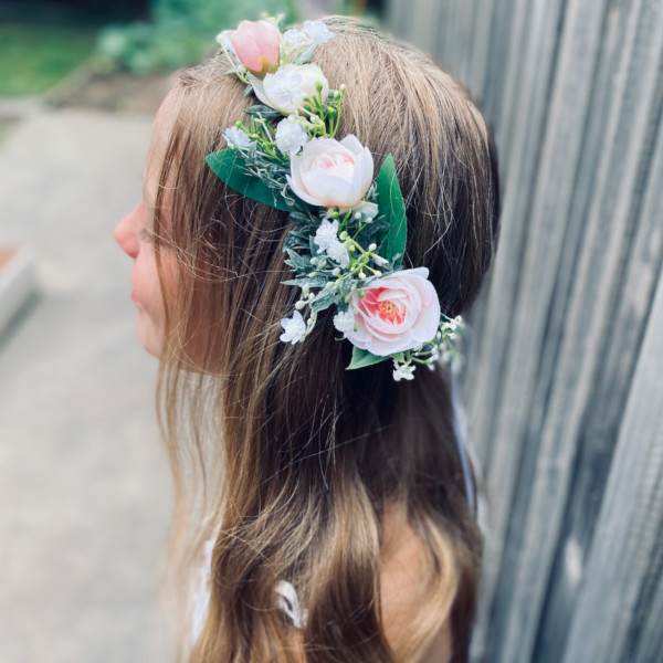 Lilly and lace kids flower crown