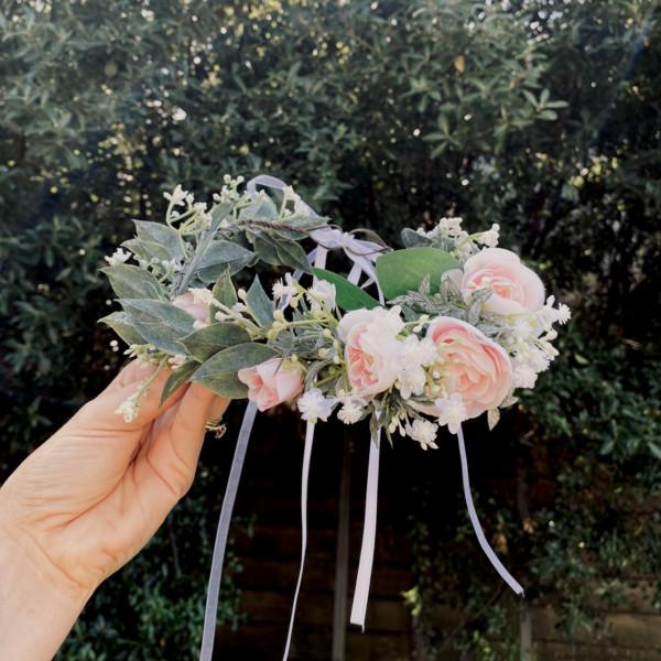 floral halo wreath hair