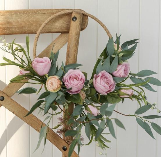 hoop flower wreath wall hanging