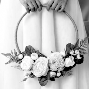 flower girl basket hoop wedding ring