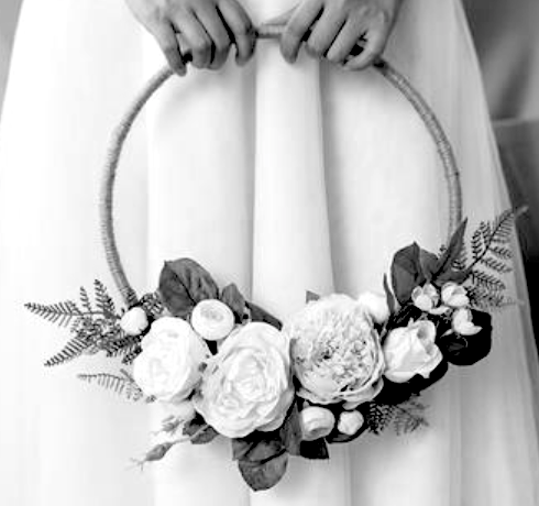 flower girl basket hoop wedding ring